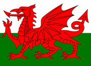 Welsh Flag with Red Dragon